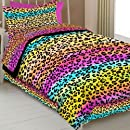 Street Revival Rainbow Leopard Twin Comforter Set Multi