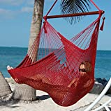 Moontree Hanging Bed Hammock Swing Bed Hanging Rope Chair Swing Chair Hammock Chair-red