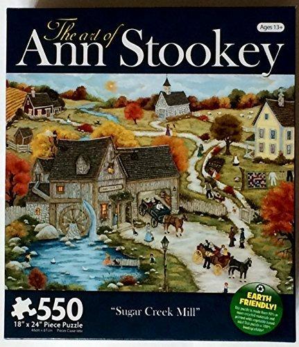 the-art-of-ann-stooky-550-piece-puzzle-sugar-creek-mill-by-karmin-international