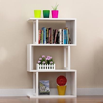 TH Scaffali multifunzionali Libreria a combinazione multi-layer Libreria da tavolo Landing Bay Shelf Creative Piccola libreria ( Colore : Style-3 )