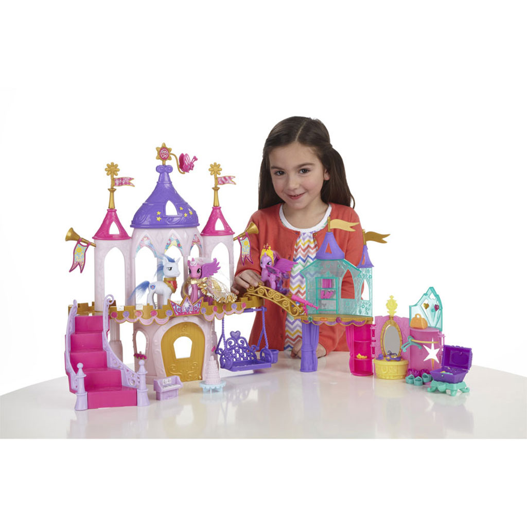 Amazon.com: My Little Pony Crystal Princess Palace Playset: Toys
