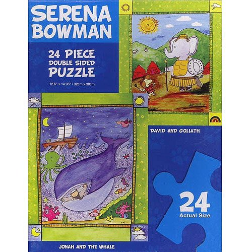 "Serena Bowman ""Jonah and the Whale"" and ""David and Goliath"" Double Sided Puzzle"