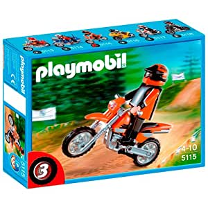 Playmobil 5115 jeu de construction motocross amazon - Table de jeu playmobil ...
