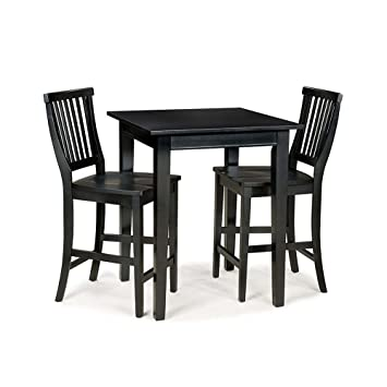 Arts and Crafts 3-piece Bistro Set - Black Finish