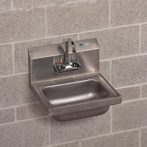 John Boos Pbhs W 1410 P Wall Mount Sink With Dual Handle