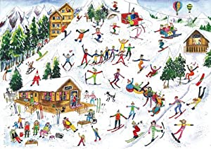 250pc Fun on the Slopes Wentworth Wooden Jigsaw