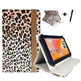 Acer Iconia One 7 B1-730 HD (7-Inch) Tablet 7.0-Inch Tablet PC Case with Rotating Function Includes Stylus Touch Pen Leopard Mehrfarbig