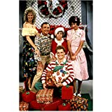 Vicki Lawrence (8 inch by 10 inch) PHOTOGRAPH The Carol Burnett Show Mama's Family Vicki! from Chest Up w/TV Family on Christmas Set kn