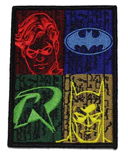 Batman DC Comics and Robin Silhouettes Patch