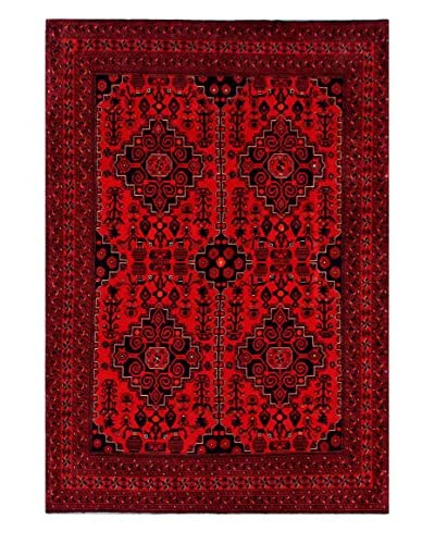 Bashian Rugs One-of-a-Kind Afghan Rug, Red, 6' 7 x 9' 10