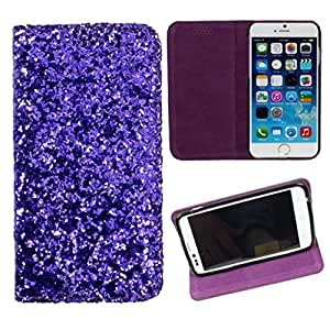 DooDa PU Leather Flip Case Cover For Karbonn S1 Titanium (Purple)