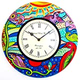 Purpledip Handpainted Wall Clock 12x12inch