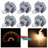CCIYU 6 Pack Warm White T3 Neo Wedge Halogen Bulb For A/C Climate Control Light 12V