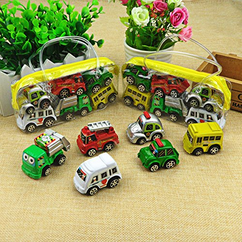 6Pcs Truck Vehicle Mini Pull Back Alloy Car Model Kids Children Xmas Toy Gift (Hummer Military Tires compare prices)