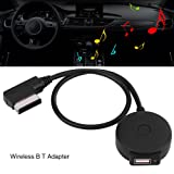 AMI MDI Bluetooth Audio Cable, EBTOOLS USB Adapter Bluetooth4.0 CSR Chipset MMI Media Inerface for VW AUDI A6L / Q5 / Q7 / A8 / S5 / A5 / A4L / A3 / A1 Afterward 2009 (Color: Black, Tamaño: normal)