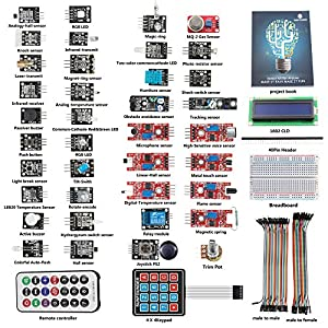SunFounder 37 modules Arduino Sensor Kit for Arduino UNO R3 Mega2560 Mega328 Nano Raspberry Pi