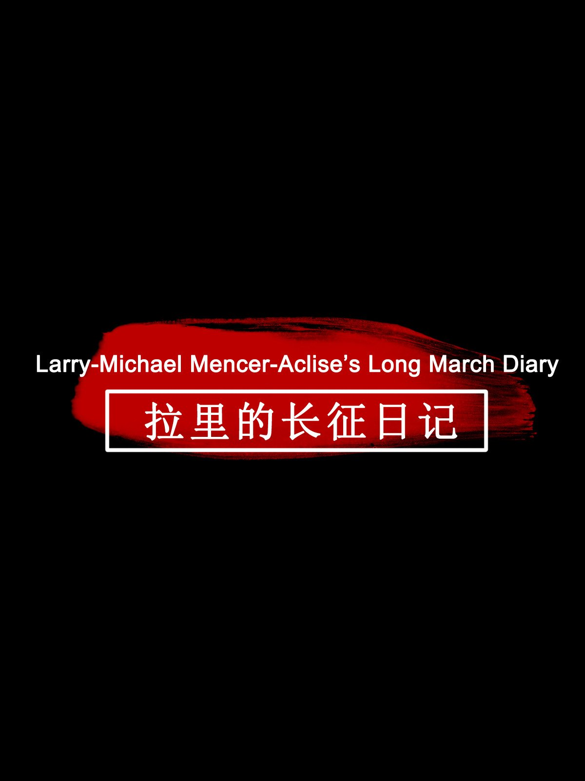 Larry-Michael Mencer-Aclise's Long March Diary