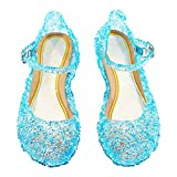 Cinderella Baby Girls Soft Crystal Plastic shoes children's Princess Shoes(Toddler/Little kid)