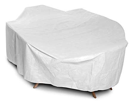 KoverRoos DuPont Tyvek 21462 Supersize High Back Dining Set Cover, 140 by 80 by 36-Inch, White