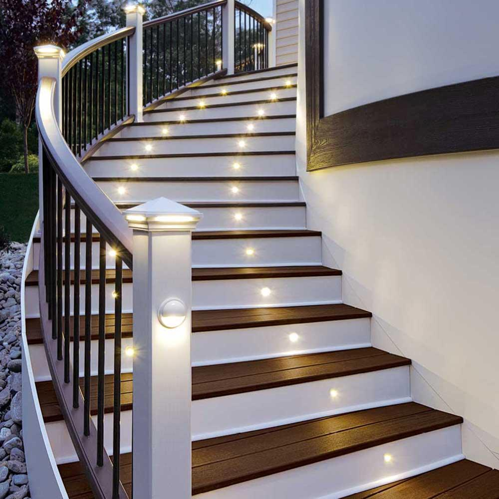Led stair light bronze 4 pack - Escaleras de madera para exteriores ...