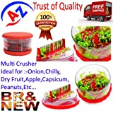 A To Z Sales Plastic Delight Multi Vegetable Crusher,Chopper,Slicer,Cutter.Ideal For Onion,Dry Fruit,Fruit,Capsicum...