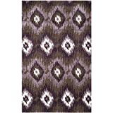 Safavieh Retro Collection RET2143-2873 Area Rug, 5-Feet by 8-Feet, Dark Brown and Eggplant