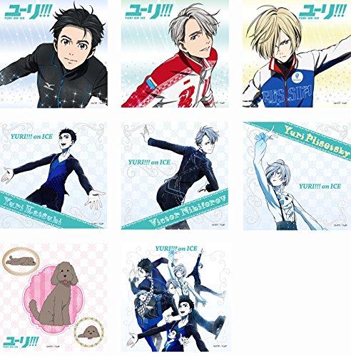 ユーリ!!!on ICE トレーディングマイクロファイバーミニタオル BOX商品 1BOX = 8個入り、全8種類