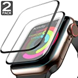 Apple Watch Screen Protector (44mm for Series 4) Full Screen 99% Clear Max Coverage Anti-Bubble iWatch Screen Protector 44mm- 2 Pack (Color: 44mm for Series 4, Tamaño: [2 Pack])