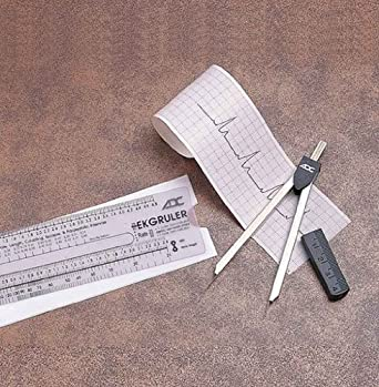 "ADC EKG Caliper electrocardiograph Latex-Free 4 3/4"""