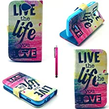 buy Blu Advance 4.0 Case, Jcmax Ultra Lightweight Superior Synthetic Leather Case [Card Slot] [Dream Catcher Graphic] Folding Folio Cover For Blu Advance 4.0 (Free Gifts: 1X Stylus)-Live Love Life