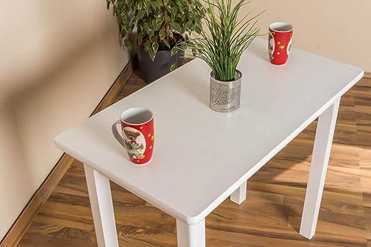 Tisch 50x90 cm, Farbe: Weiß