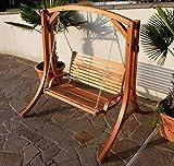 Design Hollywoodschaukel Gartenschaukel Hollywood Schaukel aus Holz Lärche Modell: 'KUREDO-OD'