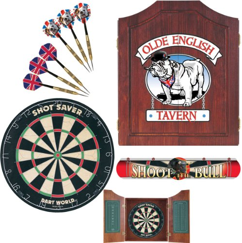 Dart World 47991 Bull Dog Darts Cabinet Kit (Bulldog Dart Board compare prices)