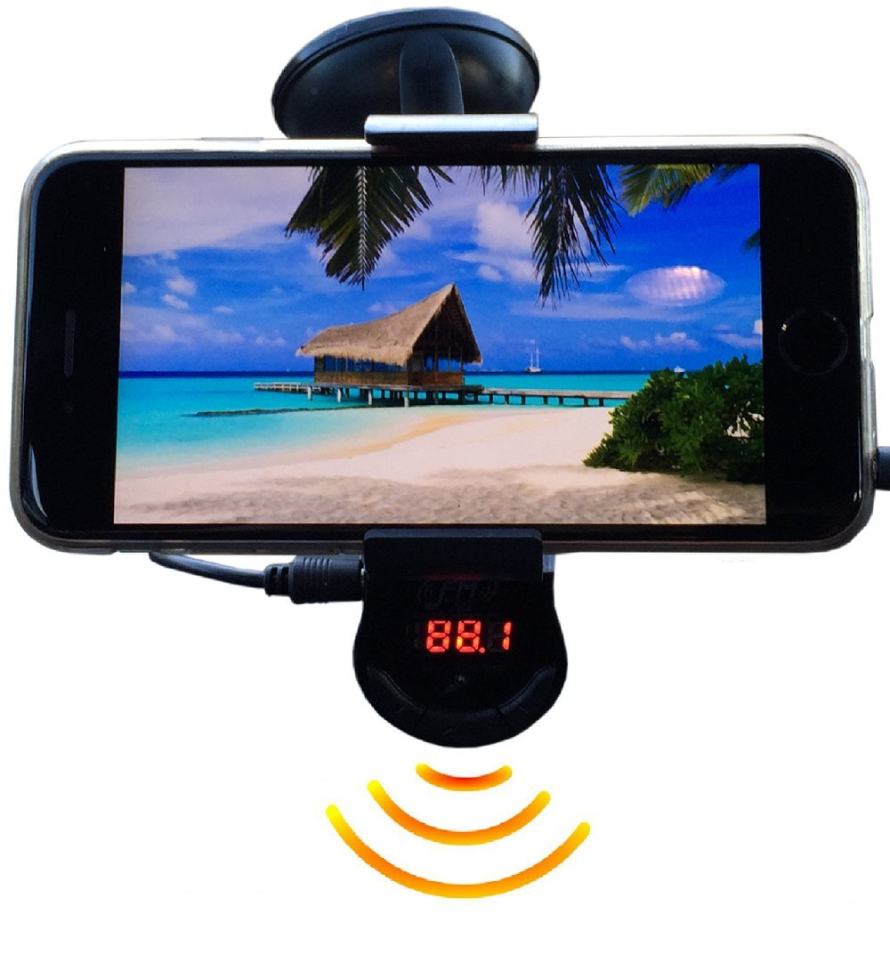 FM Transmitter With Phone Holder