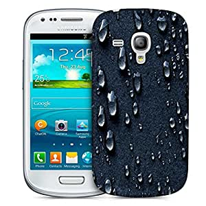Snoogg Grey Drops Designer Protective Back Case Cover For Samsung Galaxy S3 Mini