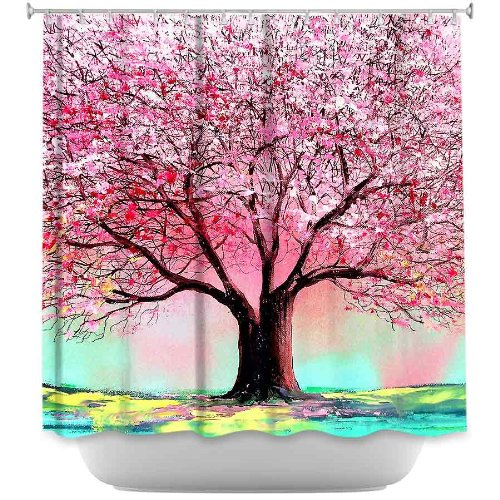 DiaNoche Designs Shower Curtains by Aja-Ann Stylish, Decorative, Unique, Cool, Fun, Funky Bathroom - Story of the Tree lxxiv