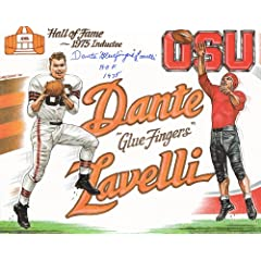 Authenticated HOFer Dante Lavelli Signed Autograph 8x10 Larry Weber Print - Cleveland... by Classic Autographs & Collectibles