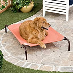 Coolaroo Elevated Pet Bed Small Terracotta
