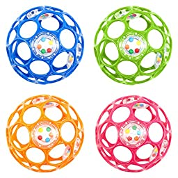Oball 4-inch Infant  Rattle Assorted Colors (Sold as each)