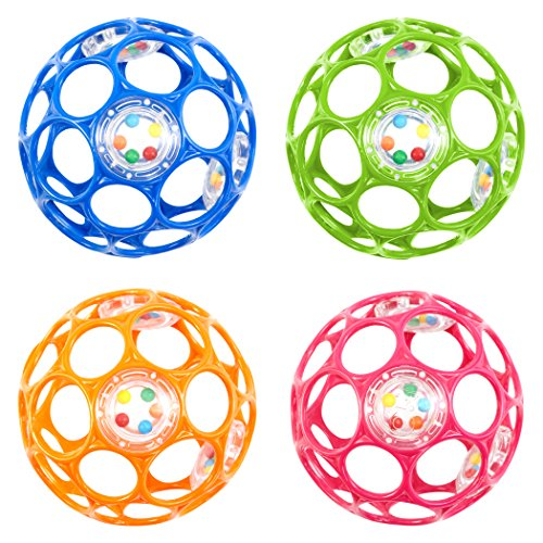 Oball 4-inch Infant  Rattle Assorted Colors (Sold as each) - 1