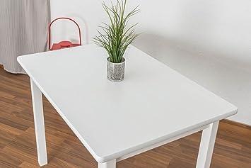 Kuchentisch 70x100 cm Kiefer massiv, Farbe: Weiß