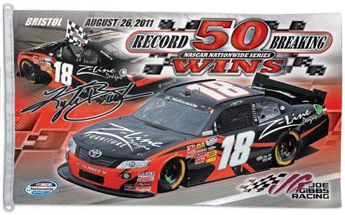 Buy #18 Kyle Busch 3x5 Flag Bristol 50 Wins Commemorative NASCAR Large by WinCraft
