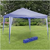 Quality Steel Framed Pop Up Gazebo 3m x 3m By Ukayed ® (Blue)