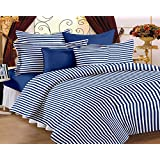 Story@Home Co-ordinated Cotton Double Bedsheet With 2 Pillow Covers - King Size, Blue (MG1095)
