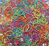 600-Piece Glow in the Dark Latex-Free Rubber Band Bracelet Loom Refill Pack