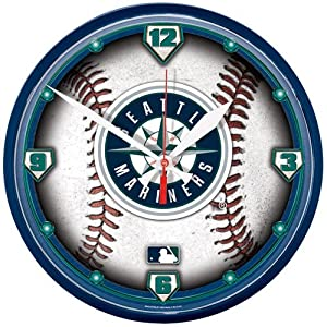 Seattle Mariners MLB Round Clock by WinCraft