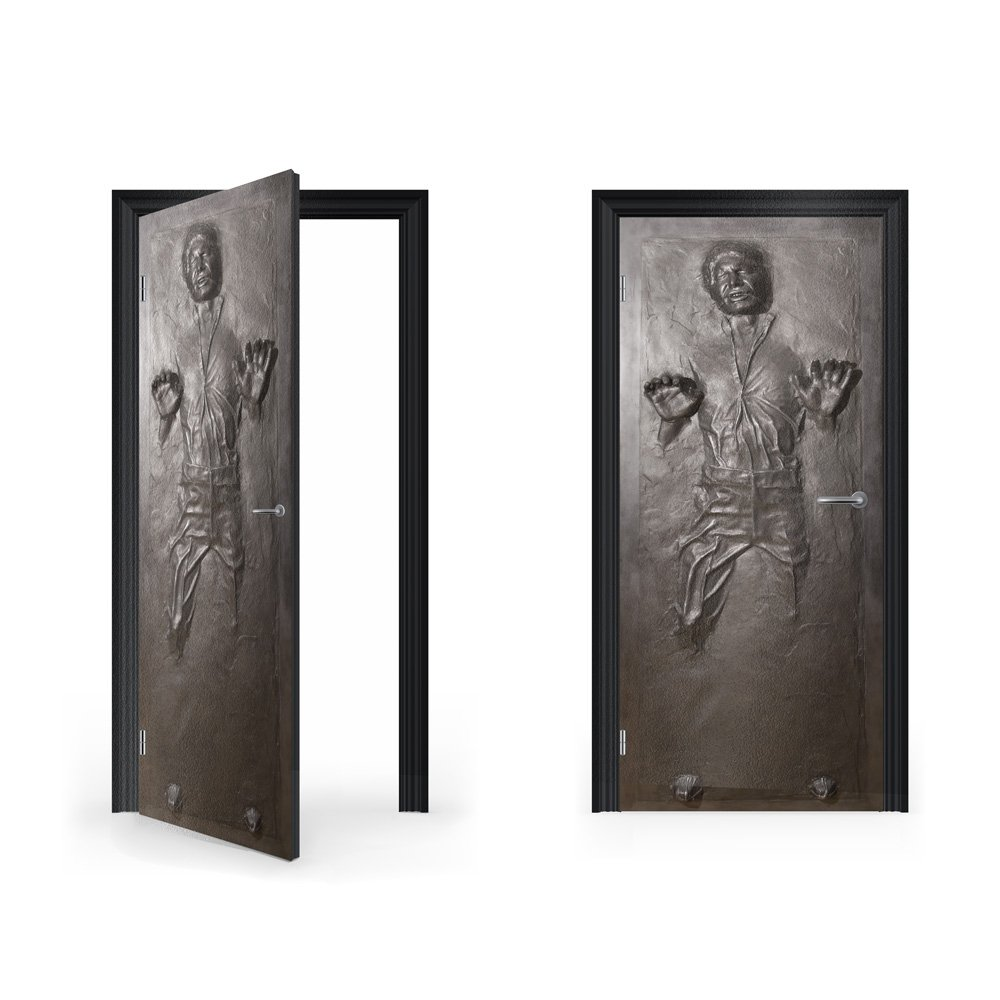 Han Solo frozen in Carbonite  DoorWrap Vinyl Sticker for Bedroom Door STAR WARS inspired decoration
