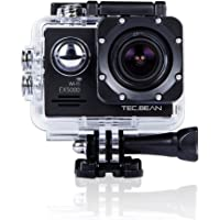 TEC.BEAN EX5000 14MP 2.0Inch WIFI Waterproof Action Camera with 2 Batteries and Mounting Accessories Kit - Black