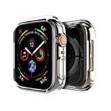 LK Case for Apple Watch Series 4 44mm, Soft TPU [Ultra Thin] [HD Clear] All-Around Protective Bumper Case Cover for Apple Watch Series 4 44mm (Color: clear)