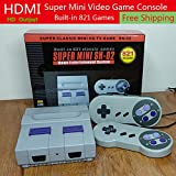 super classic mini HD TV NES game SN-02 bulit-in 821 games console 8 bit games home entertainment system